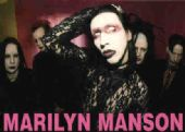 Marilyn Manson - 'Group Reverend Looking Up' Postcard